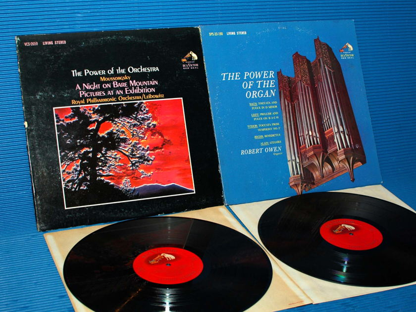 """MOUSSORGSKY - """"The Power Of The Orchestra"""" / - OWEN - """"The Power Of The Organ"""" -  RCA Shaded Dog 1963 Super Rare Set!"""