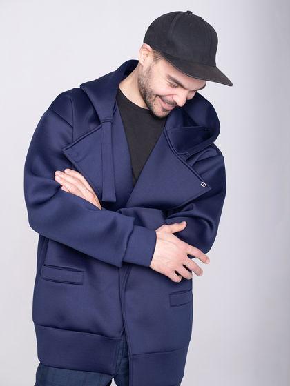 Куртка унисекс темно-синяя