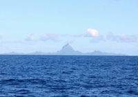 Just yesterday: 15 miles east of Bora Bora.