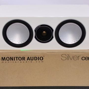 Silver Centre Channel Speaker in White