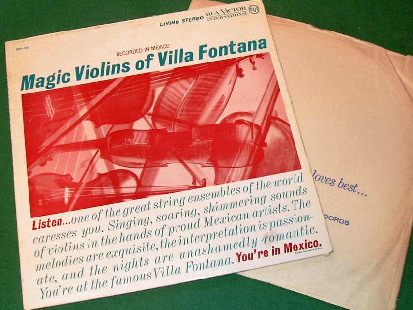 "MAGIC VIOLINS OF VILLA FONTANA - * 1961 RARE RCA LIVING STEREO 1S ""I"" PRESS *  NM 9/10"
