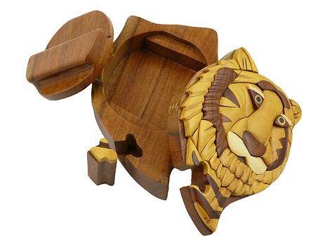Tiger Wood Puzzle Box and Secret Surprise