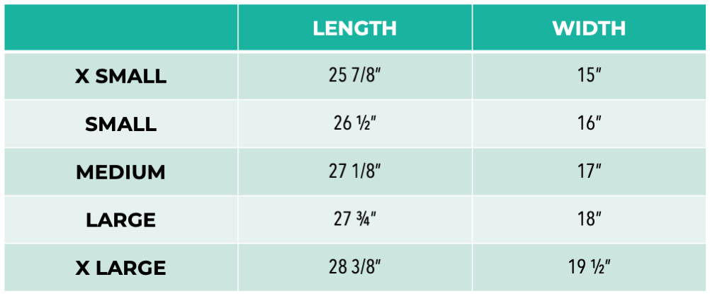 Pet It Forward Racerback Tank Sizing Chart