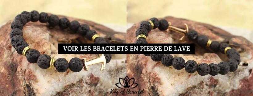 Bracelet Tibétain Double en Pierre de Lave - King of Bracelet
