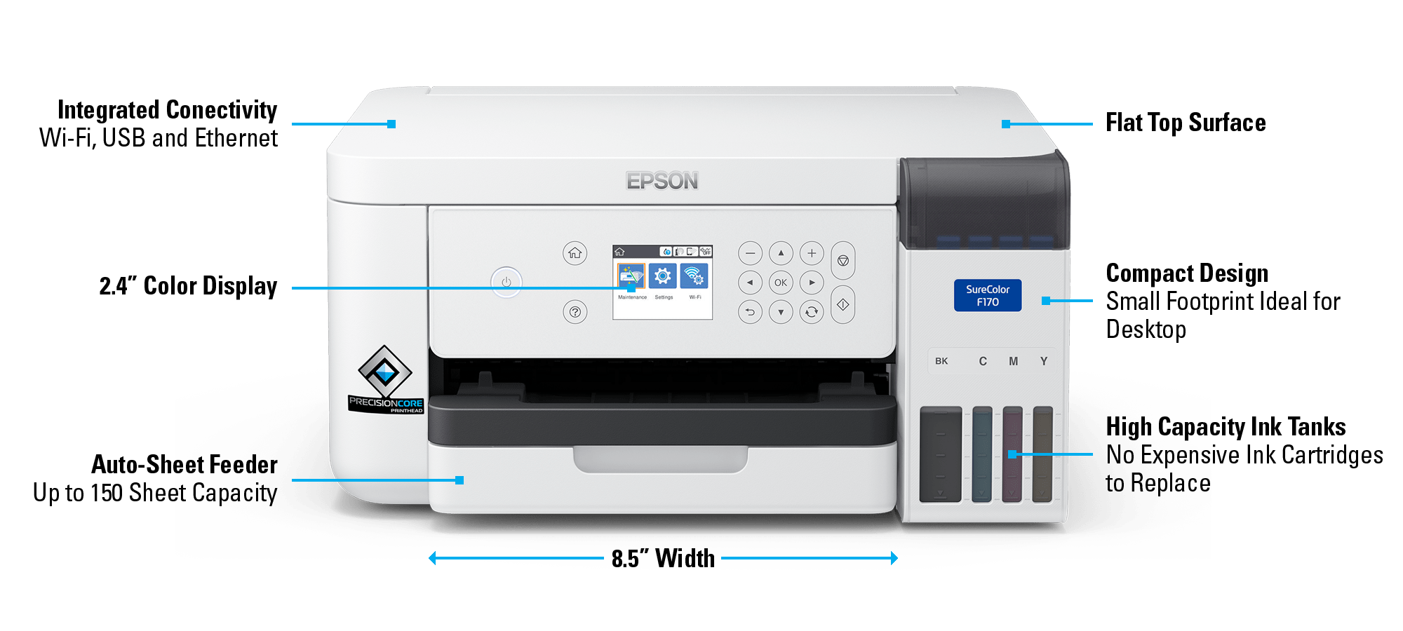 Epson SureColor F170 Dye Sublimation Printer With Features
