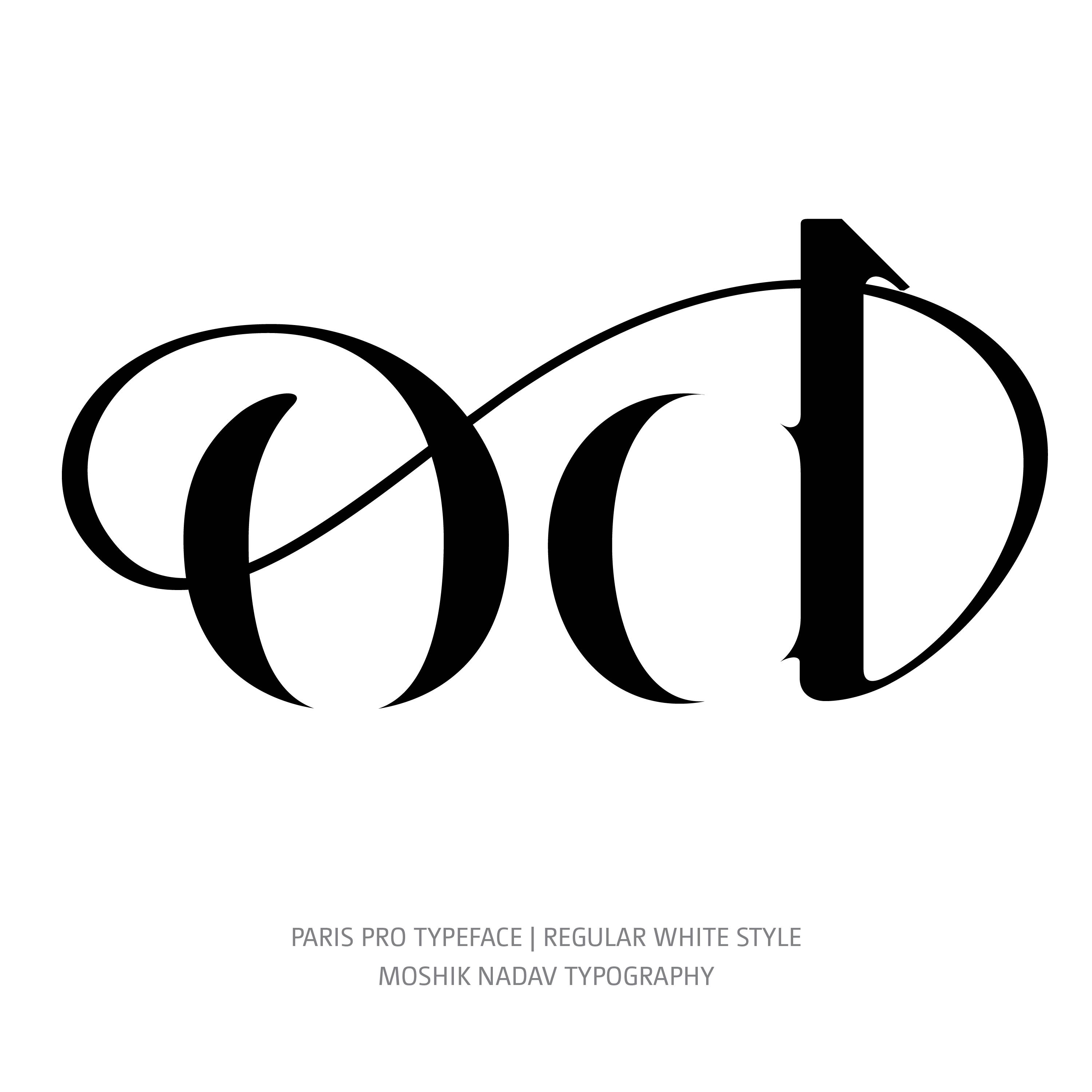 Paris Pro Typeface Regular White od ligature