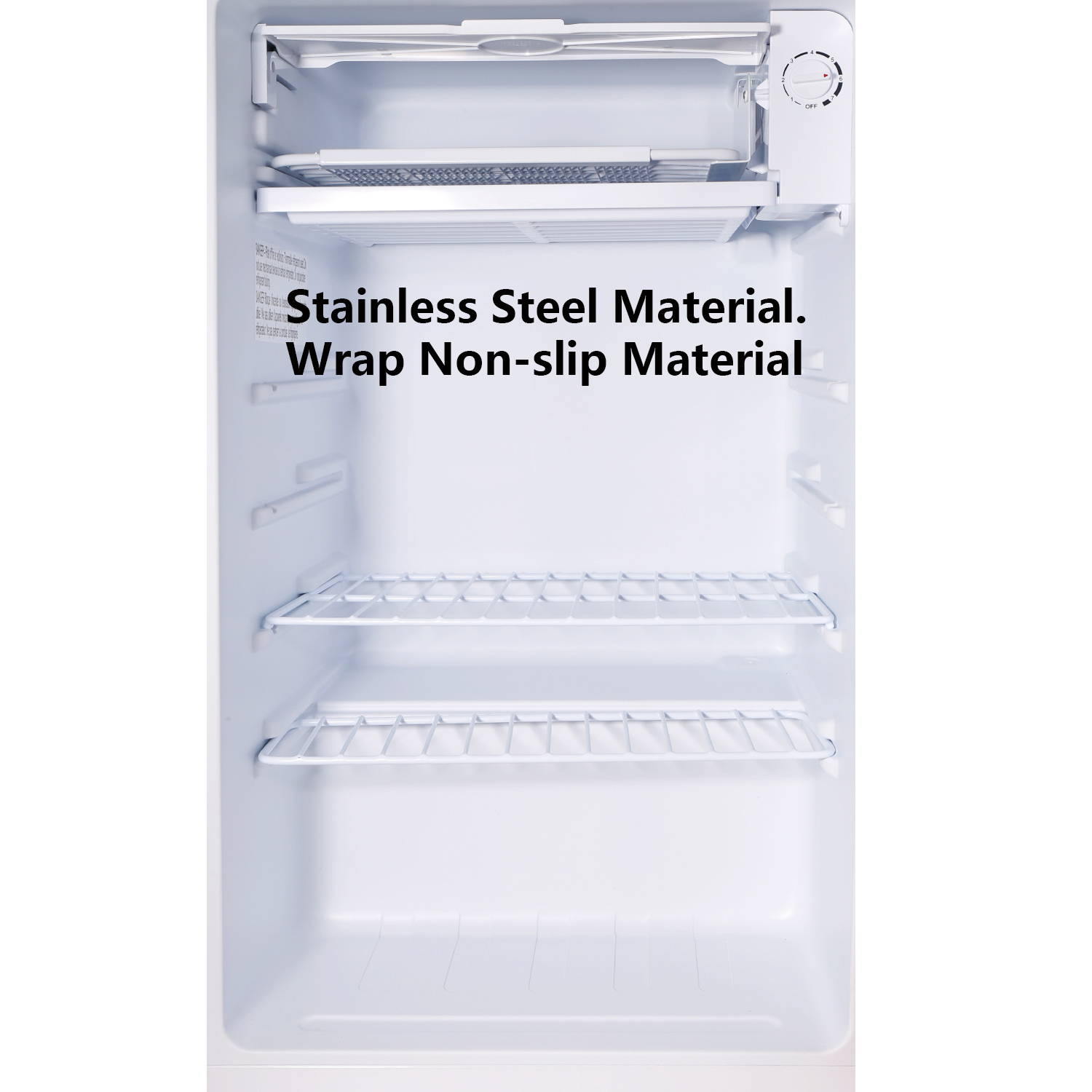 Aposen refrigerator with stainless steel and wrap non-slip material