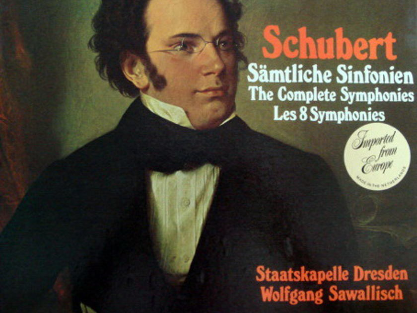 Philips / SAWALISCH, - Schubert The Complete 8 Symphonies, MINT, 5 LP Box Set!