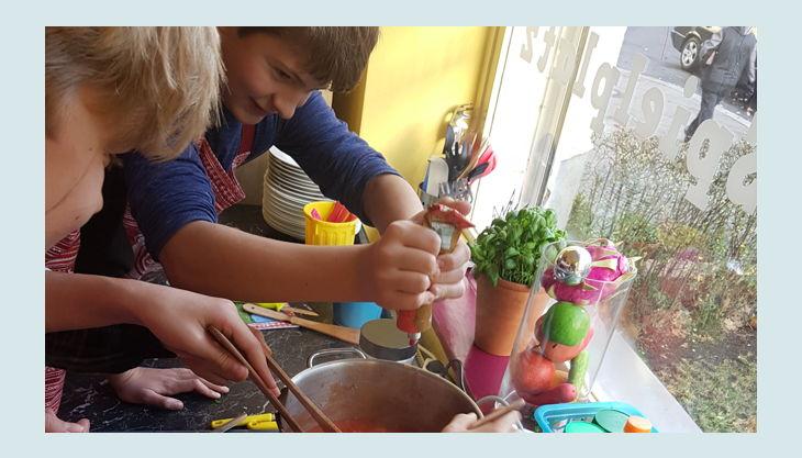 kinder kochschule essen erhitzen