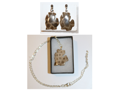 Petoskey Stone Necklace and Earring Set