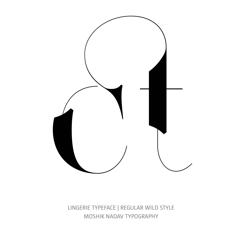 Lingerie Typeface Regular Wild ct ligature