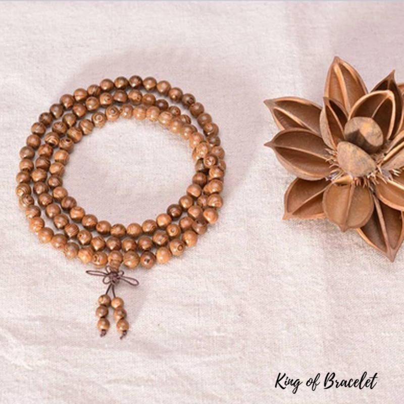 Bracelet Mala en Perles de Bois - King of Bracelet