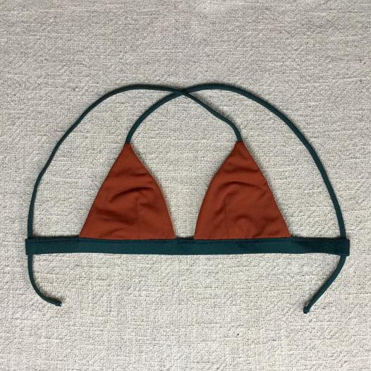 Двухсторонний купальник Berawa V2 - Terracotta Skin ВЕРХ