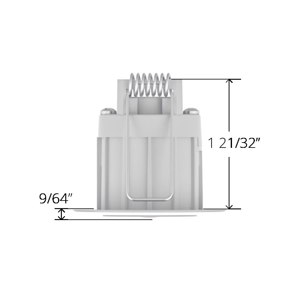 White Faradite IP67 Motion Sensor 360 depth dimensions