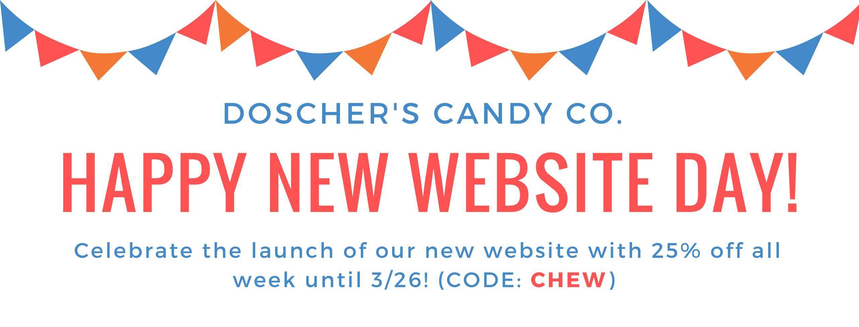 Doscher's Website Launch Graphic