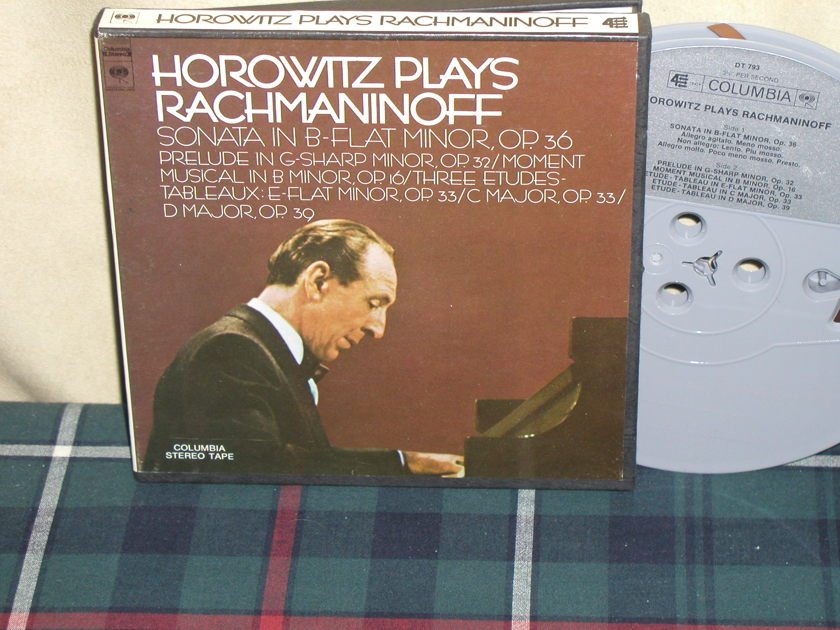 Vladimir Horowitz - Plays Rachmaninoff Columbia open Reel tape STEREO