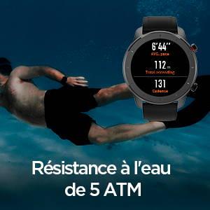 Amazfit GTR 42 mm - Résistance à l'eau de 5 ATM