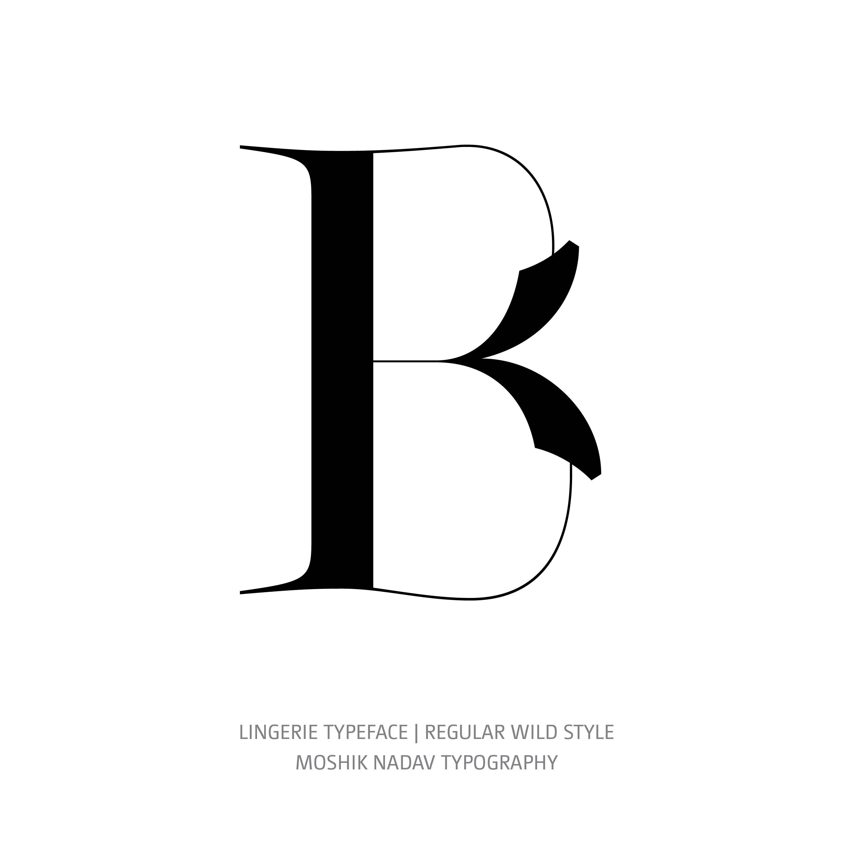 Lingerie Typeface Regular Wild B