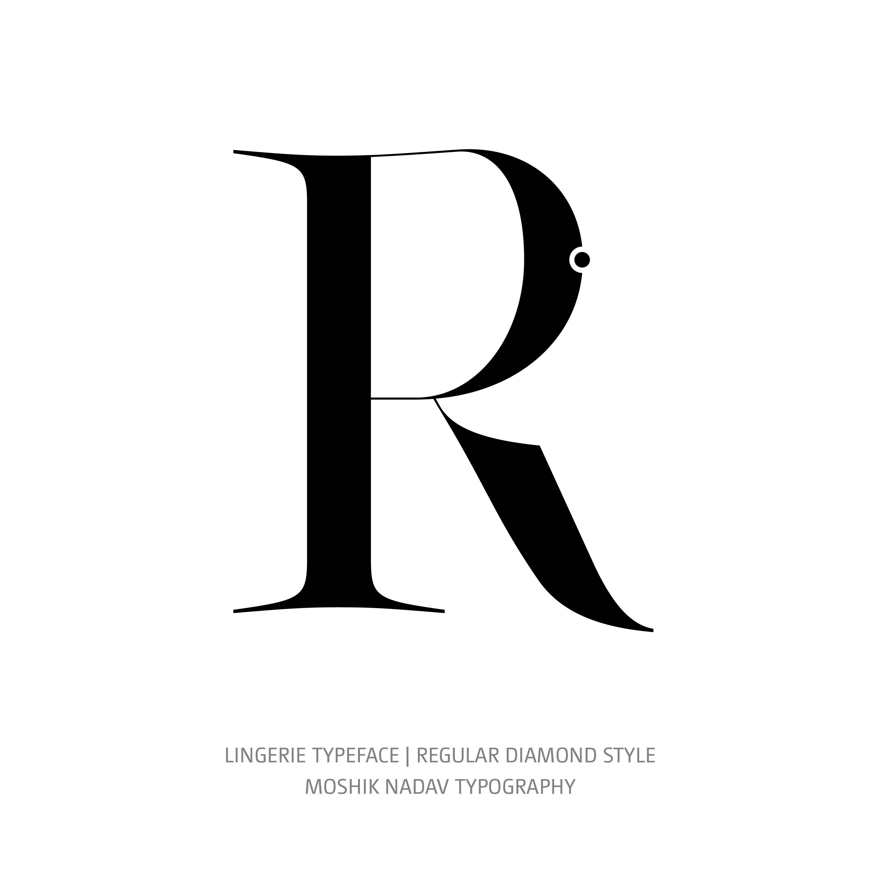 Lingerie Typeface Regular Diamond R