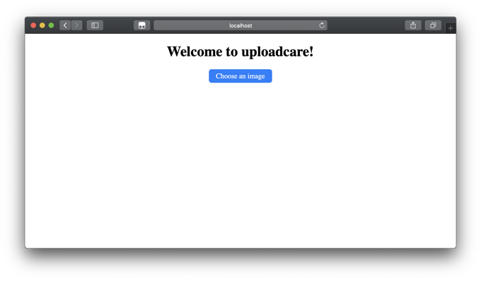 Uploadcare Widget Button