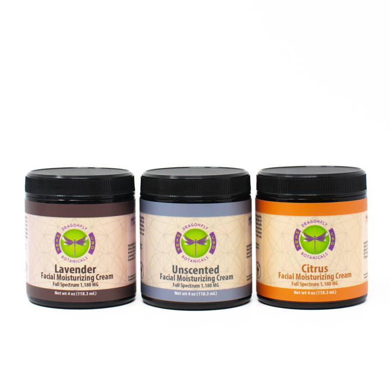 Organic Full Spectrum CBD Face Moisturizing Cream: Lavender, Unscented, Citrus