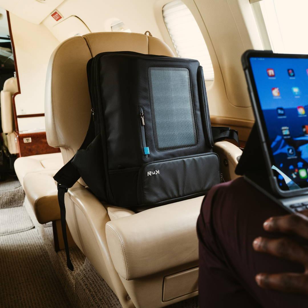 Laptop Backpack, Best Travel Backpack TSA approved, Commuter Backpack, Solar panel charger, Fitness Backpack, RuK Backpack, Solar Backpack
