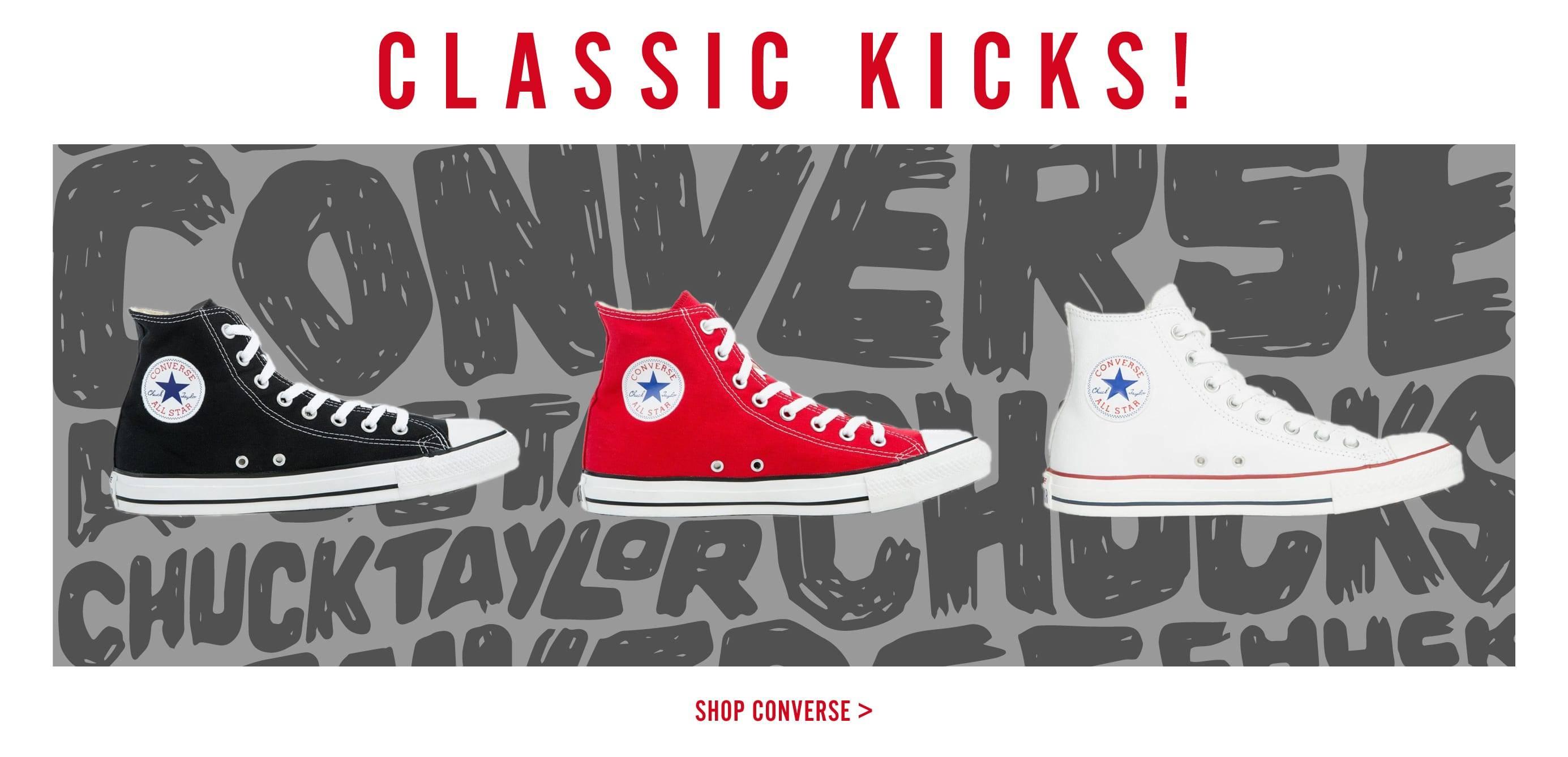 Classic Kicks | Converse | Tiltedsole.com