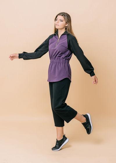 Костюм спортивный чёрно-фиолетовый