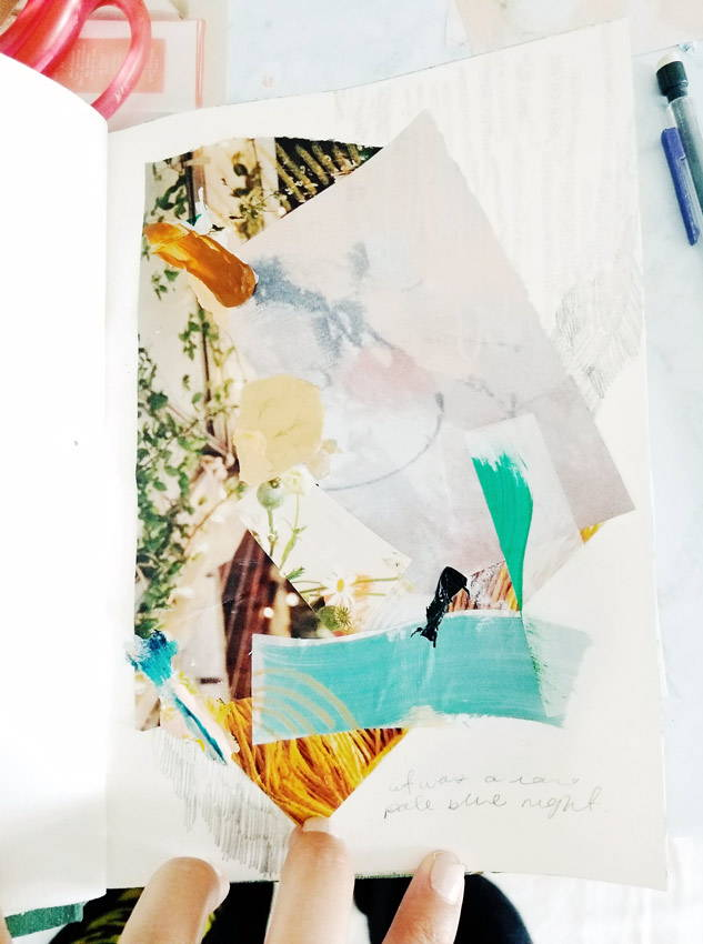 Collage sketchbook art by Parima Studio