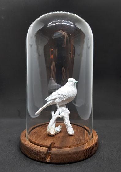 Белая птица статуэтка