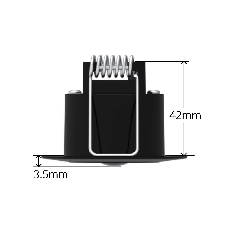 Black Faradite Motion Sensor 360 volt free dry contact depth dimensions