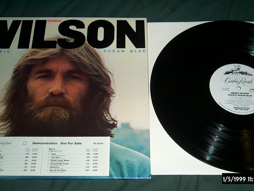 Dennis Wilson - Pacific Ocean Blue Promo lp autographed