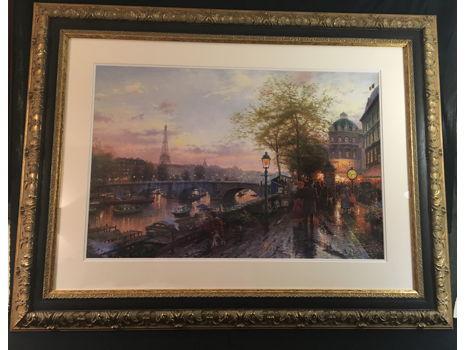 """Thomas Kinkade """"Paris, Eiffel Tower"""""""
