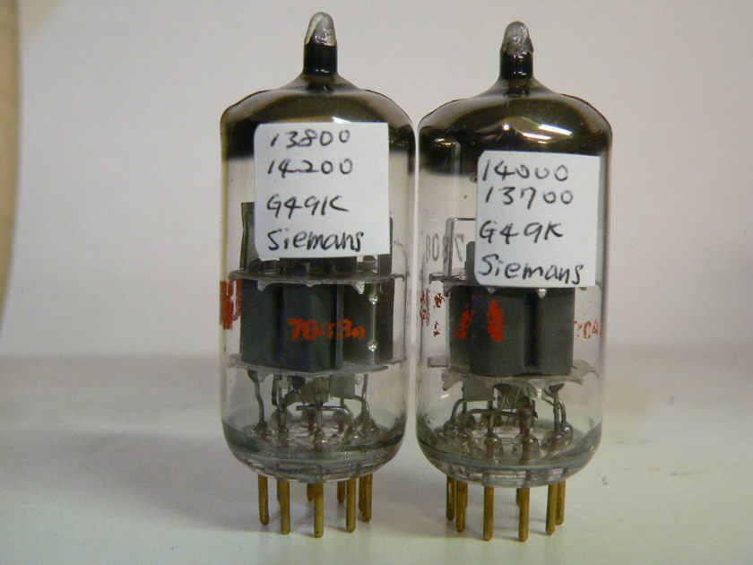Pair Siemens E188CC 7308 Germany Matched Tubes NOS
