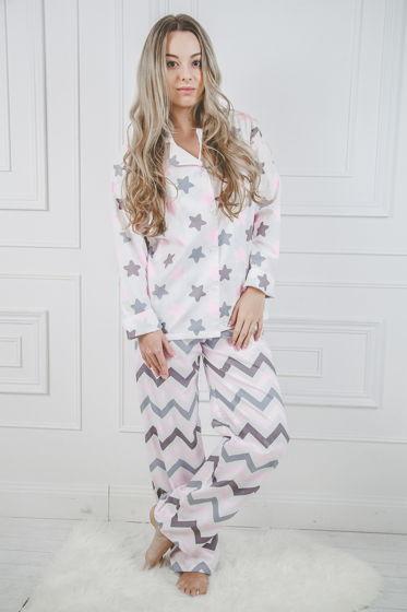 "Женская хлопковая пижама ""Розовые звёзды"""