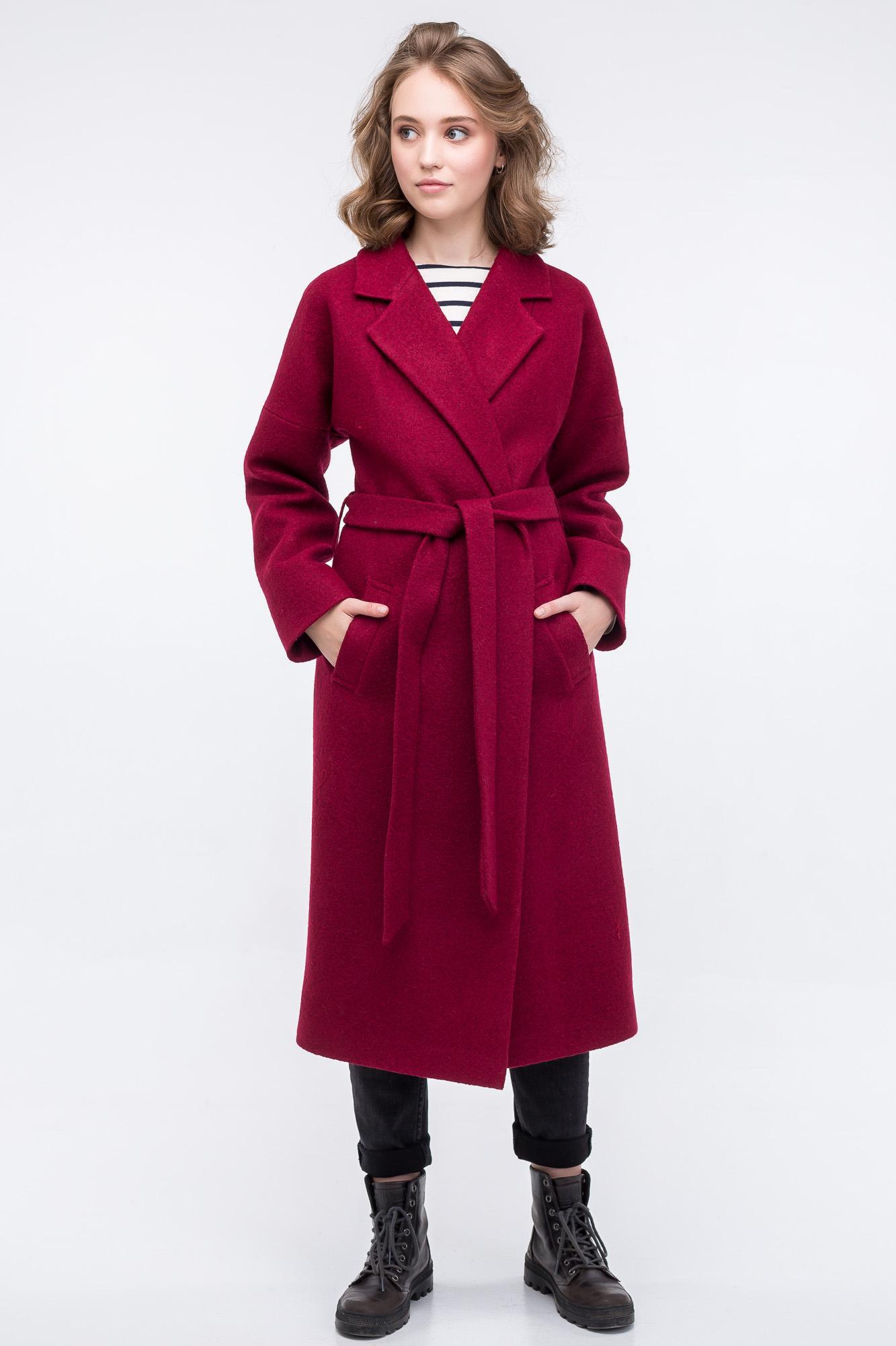 70a3c290f01e Пальто-халат винного цвета в магазине «WolfStore   SALE -50% ЗИМА ...