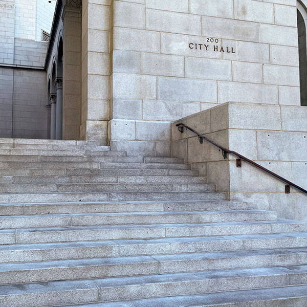 los angeles city hall protected with 4g surface guard and worlds best graffiti coating