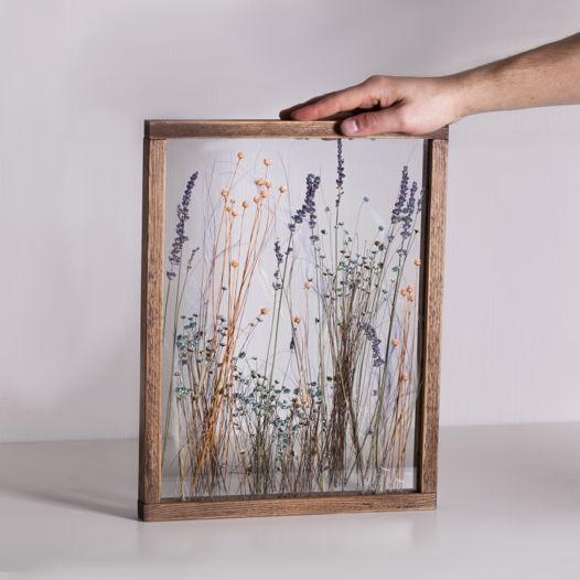 Настенный гербариум в деревянной раме  Filin Furanni