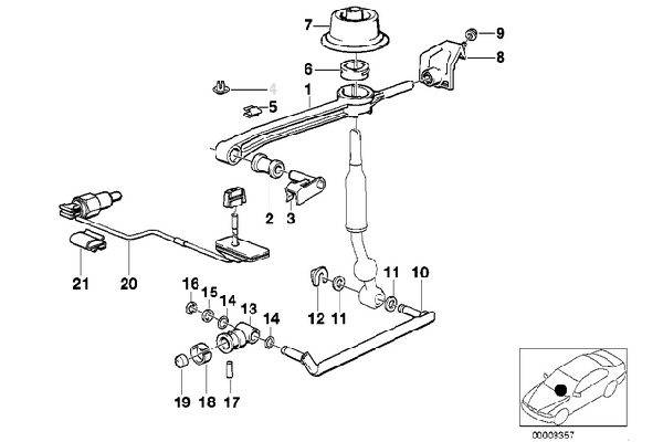 E30 Extended Selector Joint Replaces 25117503525