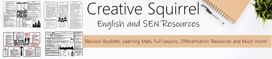 Creative Squirrel English Resources