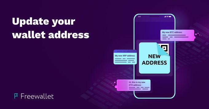 Update your wallet address