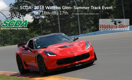 SCDA- Watkins Glen- 2 Day Track Event- July 16-17