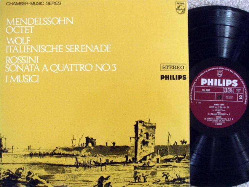 Philips UK / I MUSICI, - Mendelssoh Octet, NM, Early UK Press!