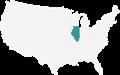 A Map highlighting Illinois