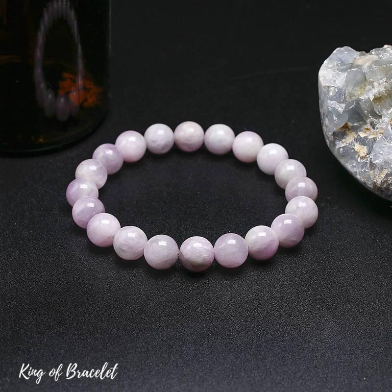 Bracelet de Lithothérapie en Kunzite - King of Bracelet