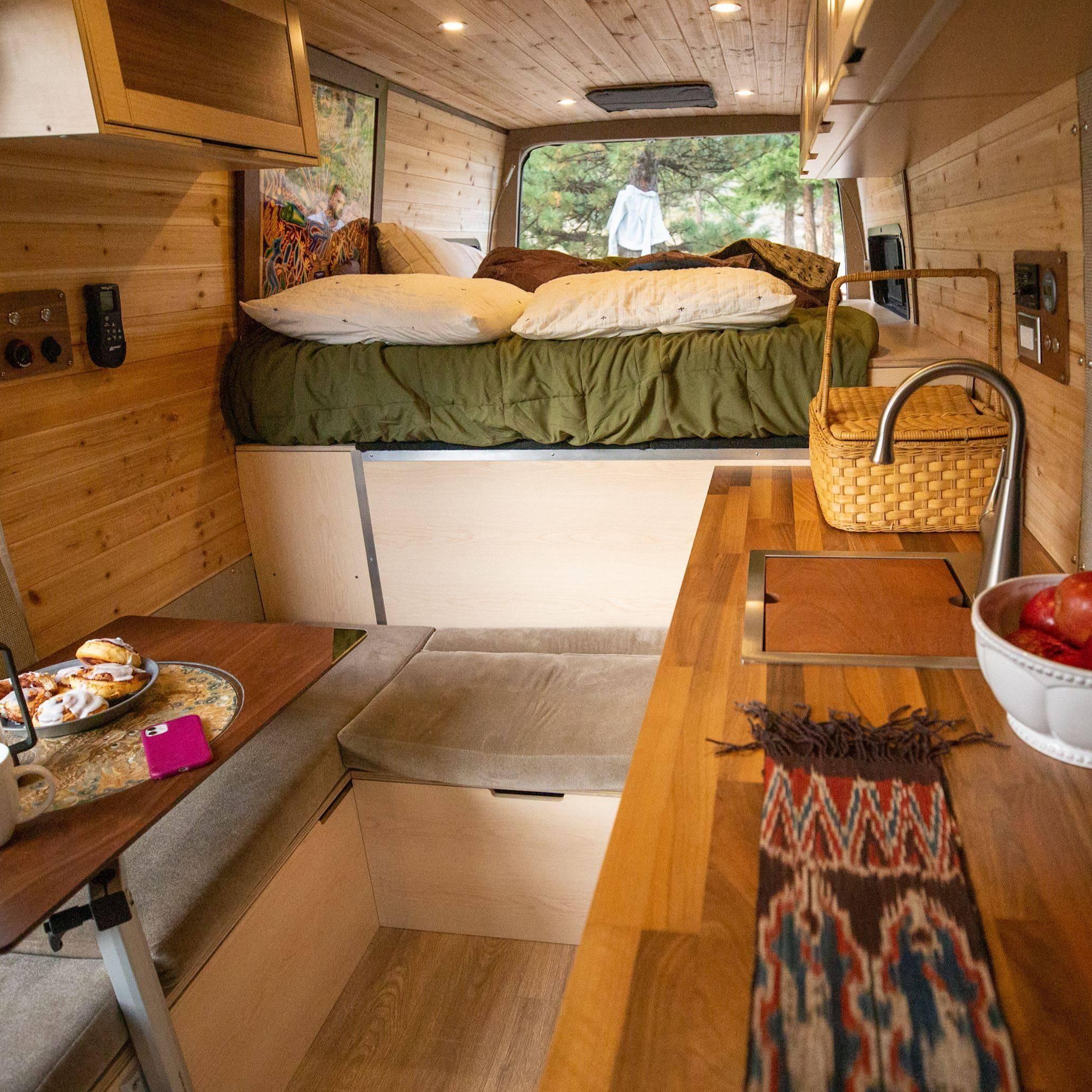 Custom Sprinter Van Conversion Interior in Colorado - The Vansmith