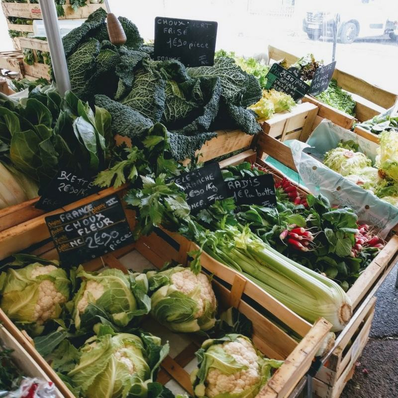 A market in France // www.bridgidgallagher.com