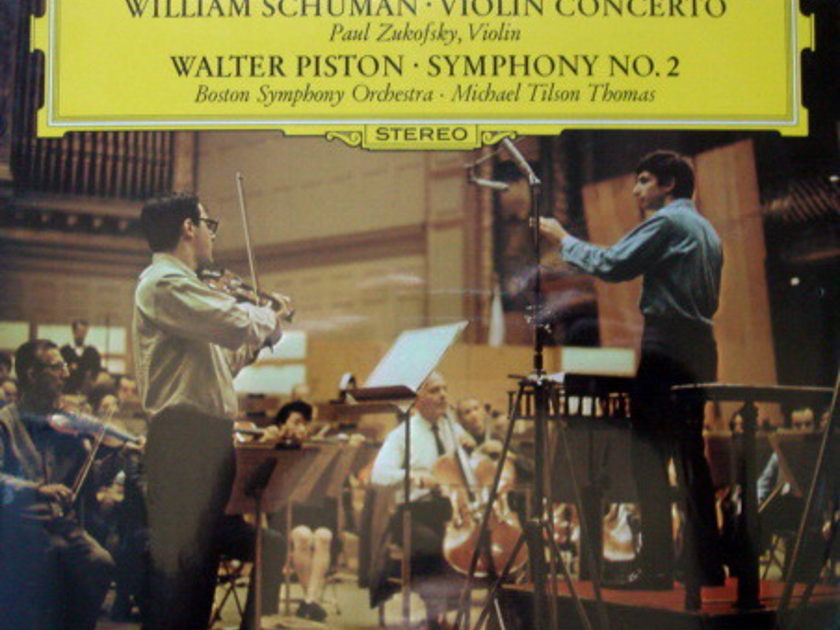 ★Sealed★ DG / - TILSON-THOMAS-ZUKOFSKY, Schuman Violin Concerto!