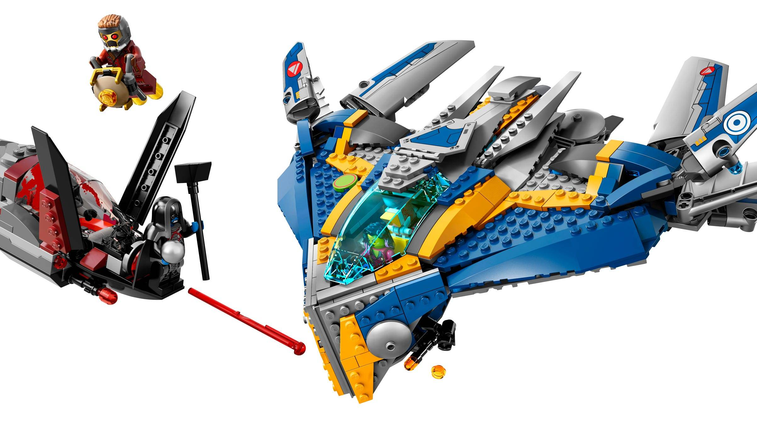 The Guardians' spacecraft set