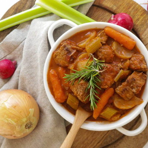 Cheap keto meals: beef stew